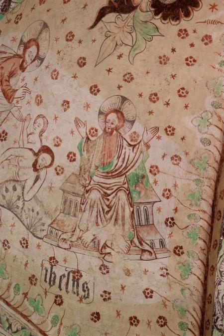 Takmålning 1400-tal. Okänd konstnär